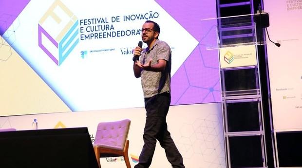 Alexandre Borges, da Mãe Terra, durante o FICE (Foto: Alexandre DiPaula)