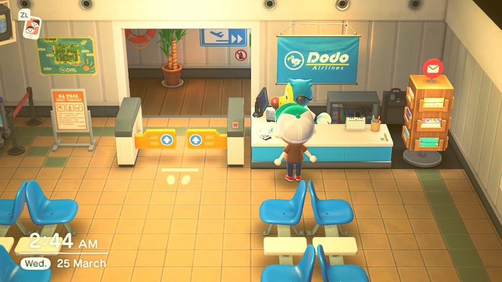 Aeroporto em Animal Crossing: New Horizons — Foto: Reprodução/Felipe Vinha