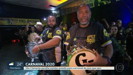 São Clemente escolhe samba-enredo de 2020