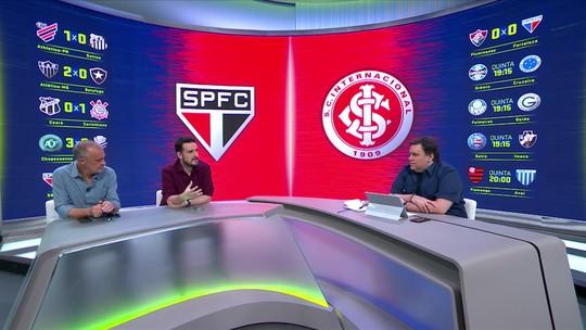 """Comentaristas analisam momentos de São Paulo e Inter: """"Quem está mais em crise?"""""""
