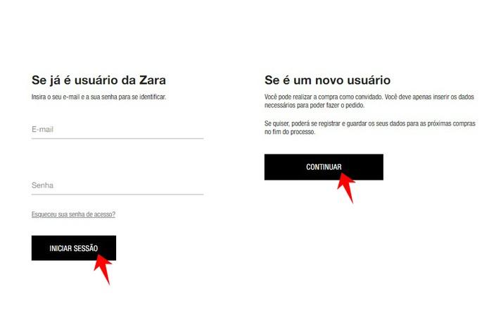 714f090f Como comprar online na Zara Brasil pelo PC ou celular   E-commerce    TechTudo