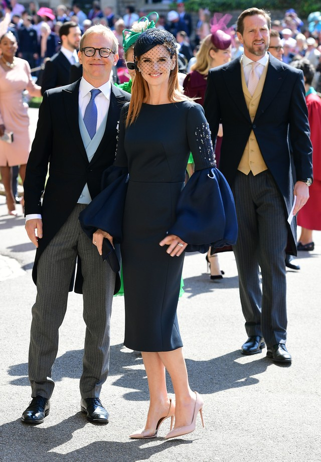 WINDSOR, UNITED KINGDOM - MAY 19:   Actress Sarah Rafferty arrives at St George's Chapel at Windsor Castle before the wedding of Prince Harry to Meghan Markle on May 19, 2018 in Windsor, England. (Photo by Ian West - WPA Pool/Getty Images) (Foto: Getty Images)