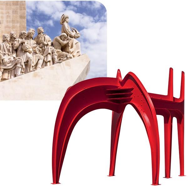 Essa giga escultura de Alexander Calder (1968) logo na entrada do museu já impressiona (Foto: Thinkstock, divulgação e reprodução/Facebook e Instagram)