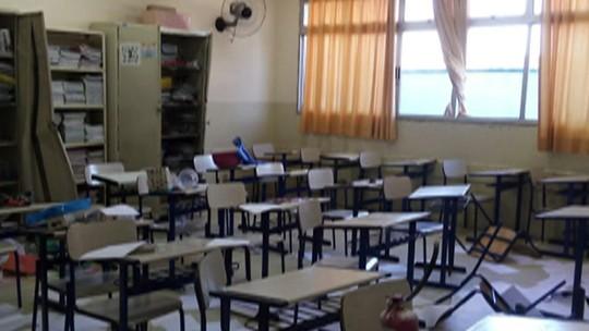 Escola Municipal de Jundiapeba, em Mogi, é invadida e vandalizada