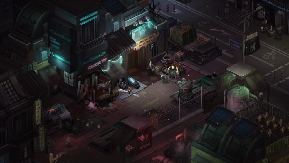 Em Shadowrun: Dragonfall o jogador controla um grupo de Shadowrunners, cada um com a sua própria história e motivações — Foto: Divulgação/Steam