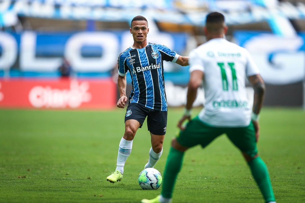 Darlan foi titular contra o Cuiabá — Foto: Lucas Uebel/Divulgação Grêmio