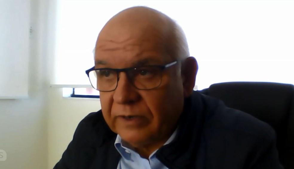 Romildo Bolzan, presidente do Grêmio, em entrevista ao GloboEsporte.com — Foto: Reprodução
