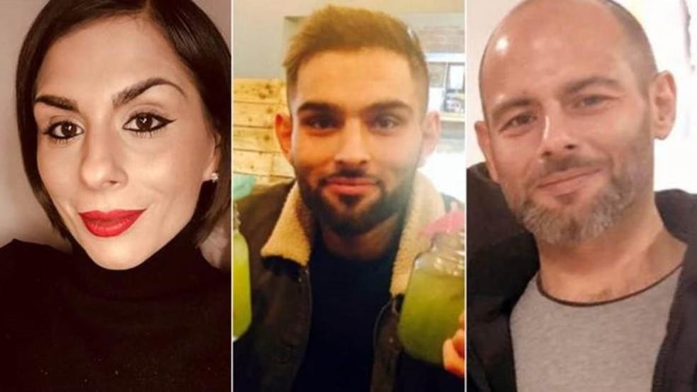 Sophia, Omar e Tahir optaram por retirar o estômago ao descobrir que tinham um gene cancerígeno — Foto: Arquivo Pessoal/BBC