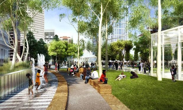 São Francisco ganha parque na cobertura de terminal de ônibus e metrô (Foto: Tim Griffith)