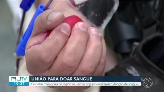 Guardas municipais do Sul do Rio se unem para incentivar doação de sangue