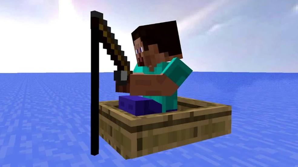 Vara de pescar foi um dos itens adicionados pelo update 1.1.1 — Foto: Reprodução/YouTube