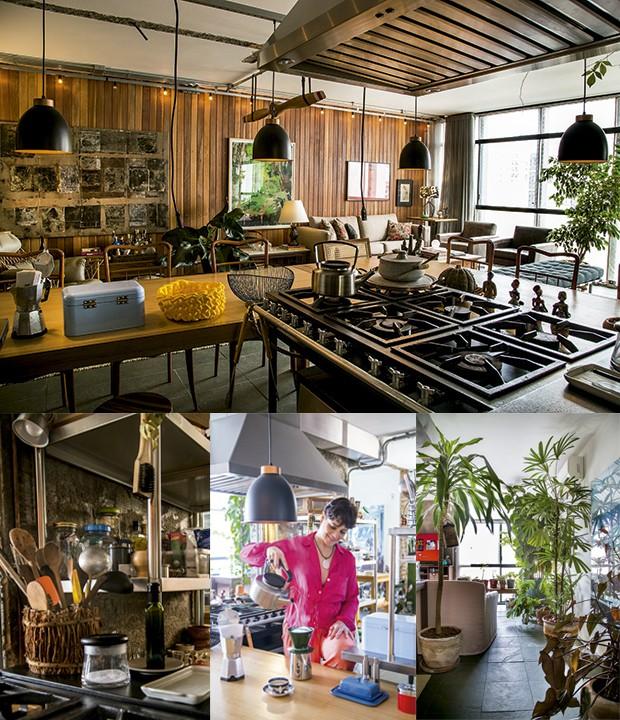 Lifestyle decor - Os diversos ambientes do misto de sala, cozinha e área  de serviço (Foto: Rogério Voltan)