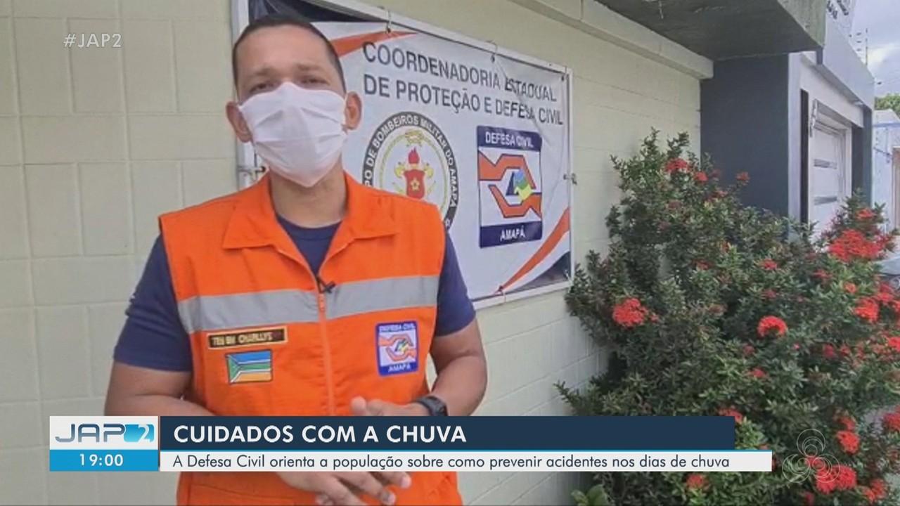 Defesa Civil orienta população sobre como prevenir acidentes em dias de chuva no Amapá