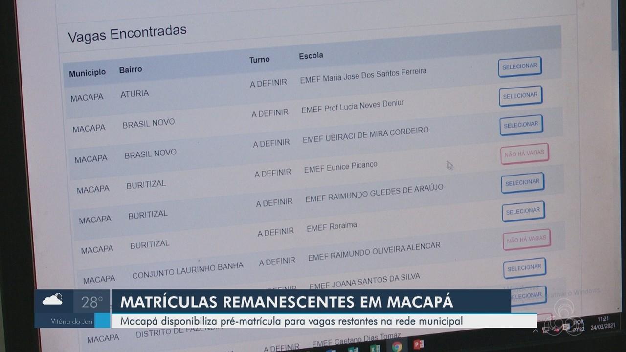 Macapá oferta pré-matrícula para vagas restantes na rede municipal de ensino