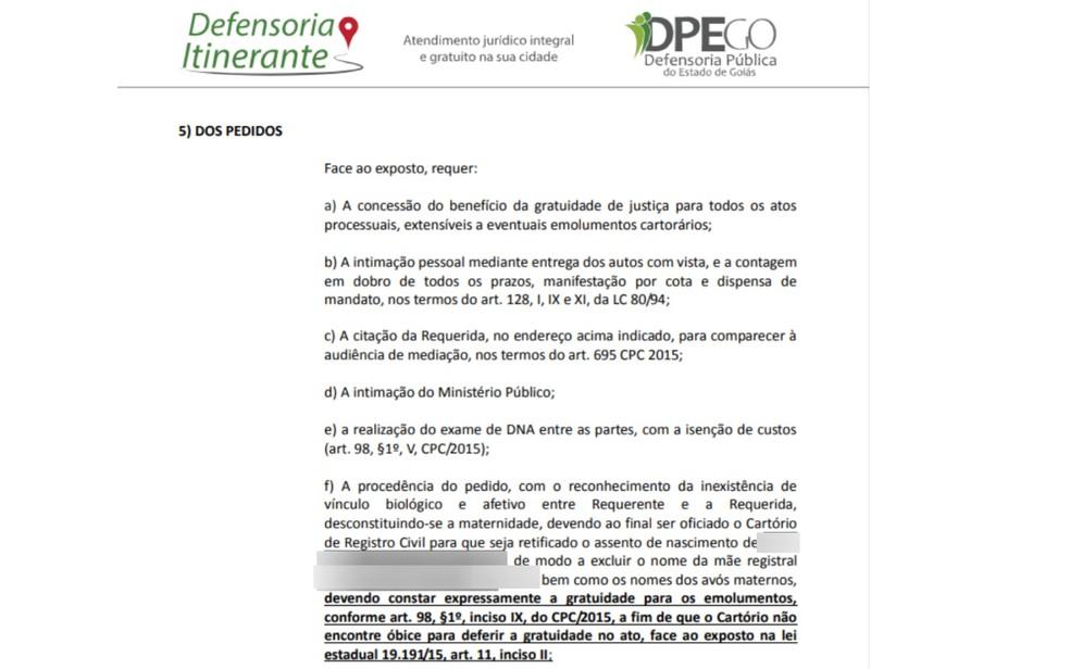 Defensoria Pública entra com pedido de negatória de maternidade (Foto: Defensoria Pública/ Reprodução)