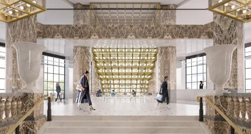 Ideia de como deve ficar o interior da Galeries Lafayette Champs-Elysées (Foto: Divulgação)