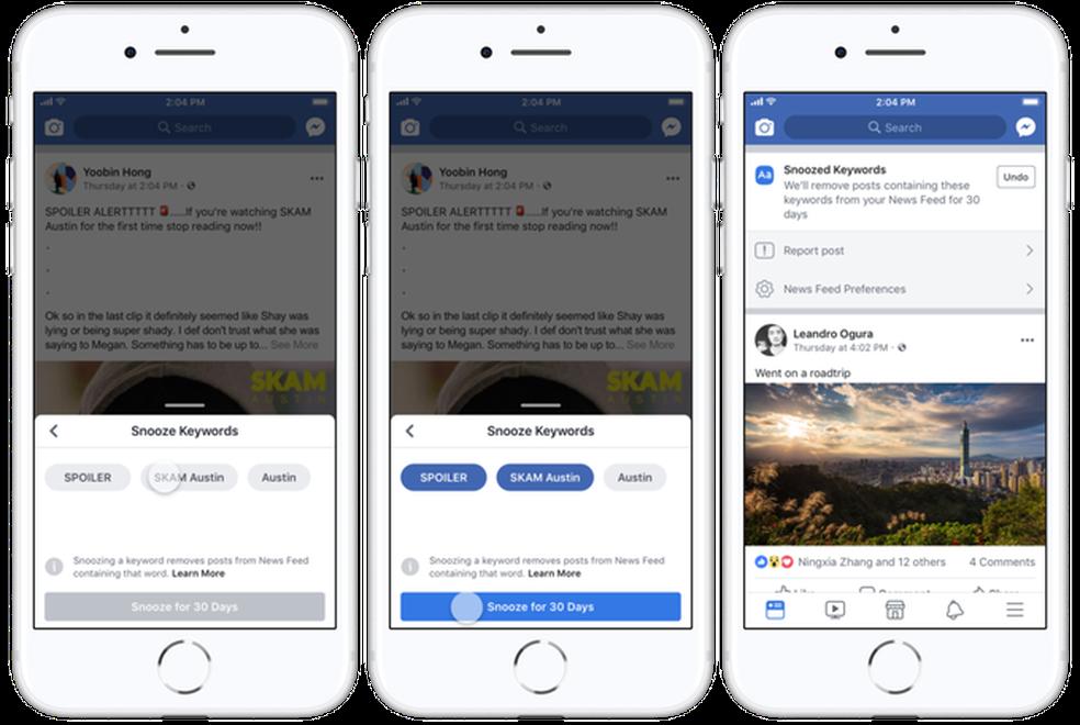 Função do Facebook ajuda a evitar spoilers (Foto: Reprodução/TechCrunch)