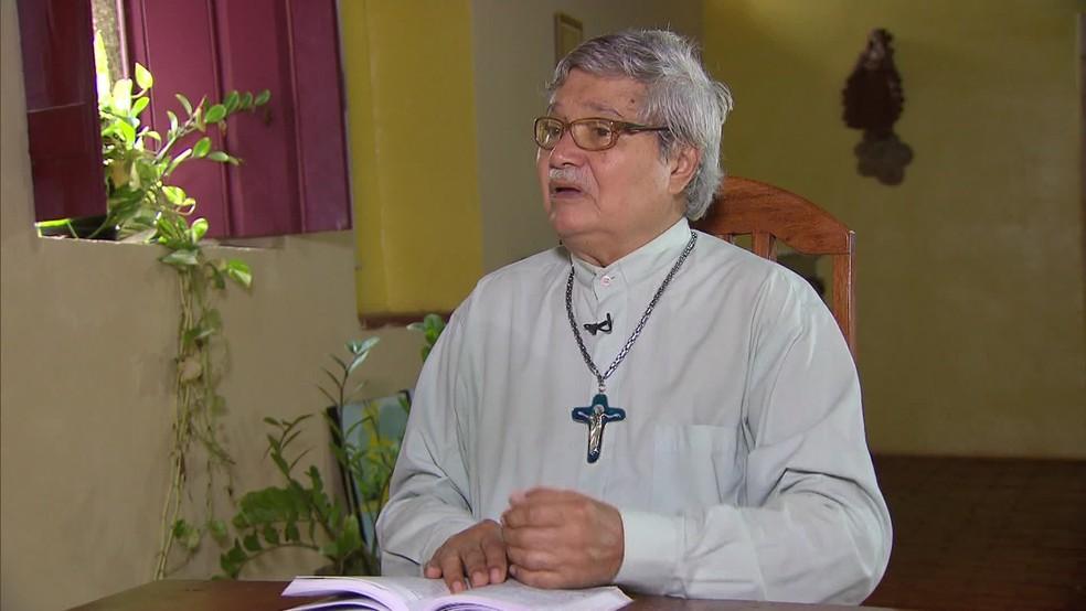 Frei Tito morreu neste sábado (28), aos 79 anos — Foto: Reprodução/TV Globo