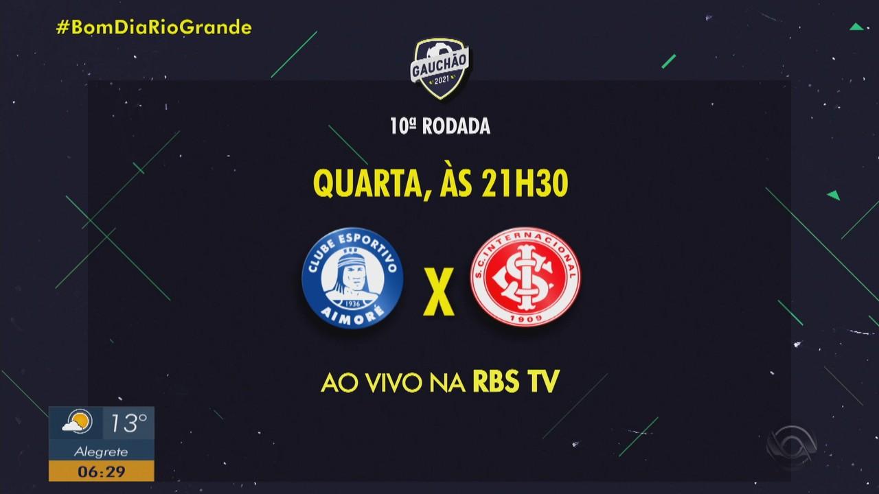 Inter enfrenta Aimoré pelo Campeonato Gaúcho