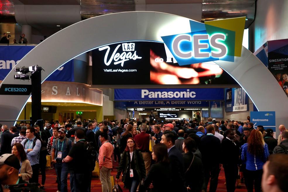 Foto da edição de 2020 da CES, a maior feira de tecnologia do mundo — Foto: Steve Marcus/Reuters