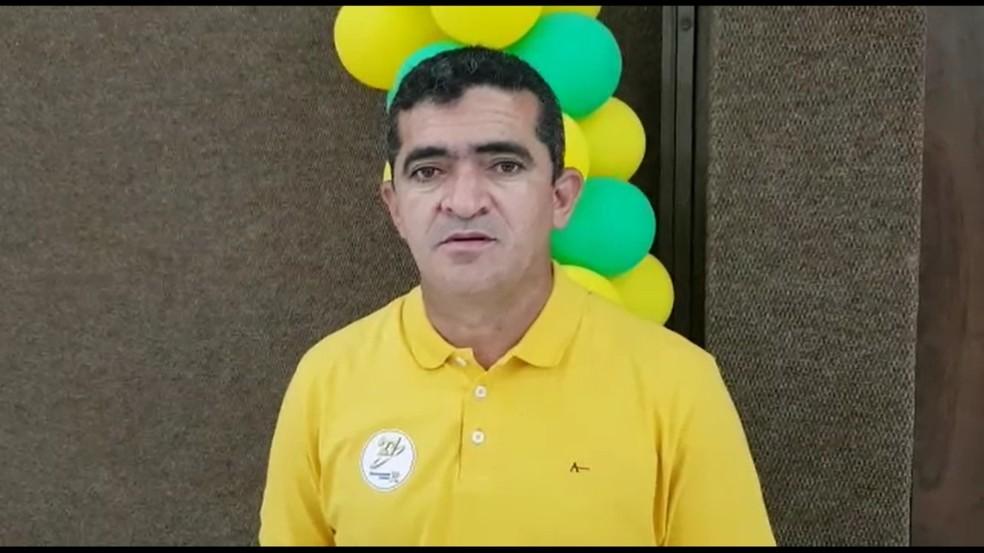 O deputado estadual Elizeu Nascimento, de 44 anos, foi lançado como candidato ao senado na noite dessa quarta-feira (16) pelo Partido Democracia Cristã, em Cuiabá — Foto: Divulgação