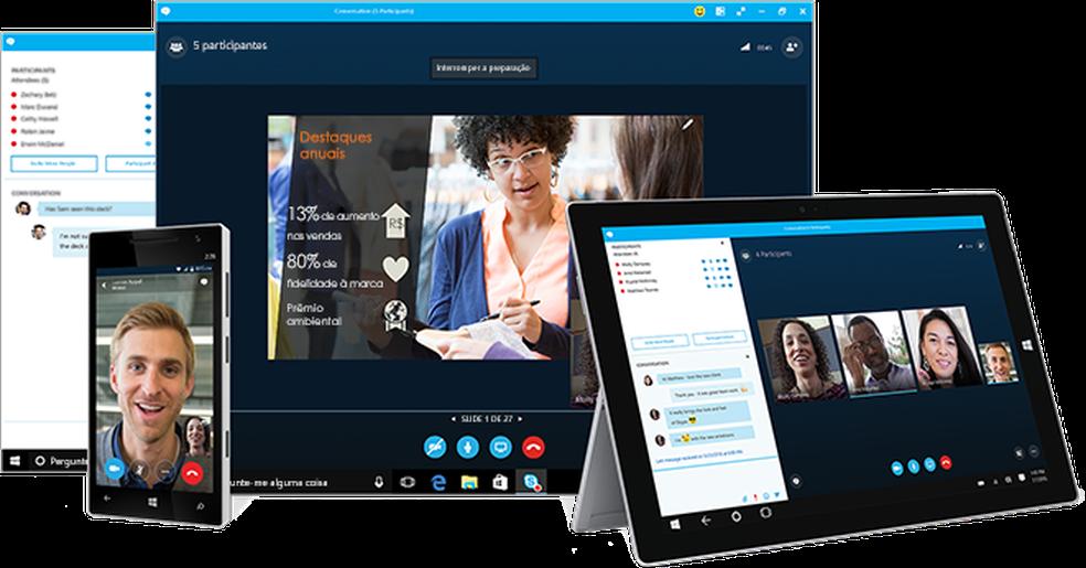 Skype for Business será totalmente substituído pelo Microsoft Teams em julho de 2021 — Foto: Divulgação/Microsoft