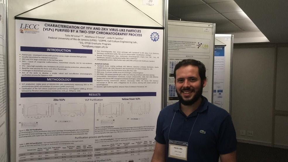 Túlio Macedo Lima, estudante de doutorado na UFRJ, participa do desenvolvimento de vacina contra zika e febre amarela — Foto: Arquivo Pessoal/Túlio Lima