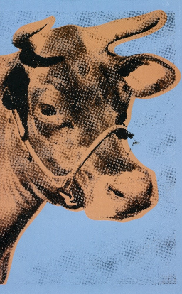 "Warhol, Andy. 1928-1987, American artist. ""Cow"", 1971. Screen print on wallpaper, 116 x 76 cm. Printed for a Warhol exion a Whitney Museum of American Art, Art, New YNew York. Print: Bill Miller's Wallpaper Studio. Private Collection. . Museum: PRIVATE CO (Foto: www.fotoarena.com.br)"
