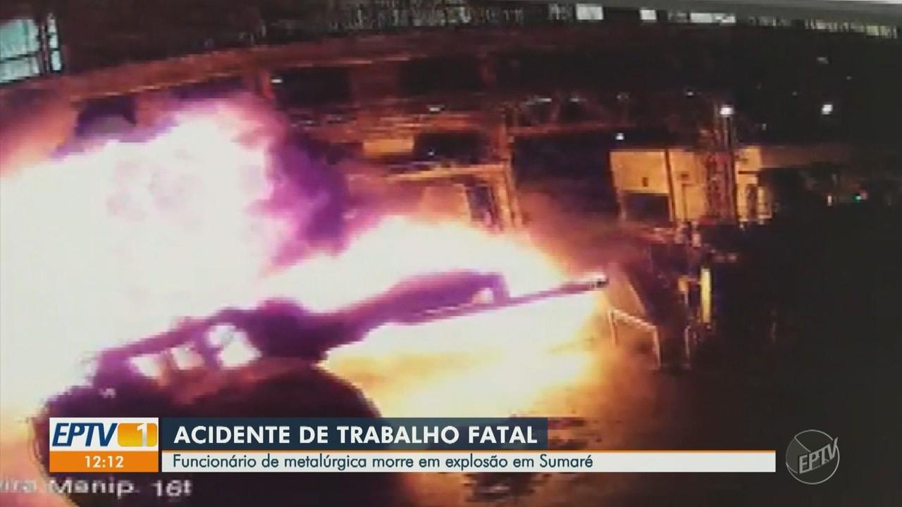 Imagens do acidente em metalúrgica de Sumaré que matou um funcionário são divulgadas