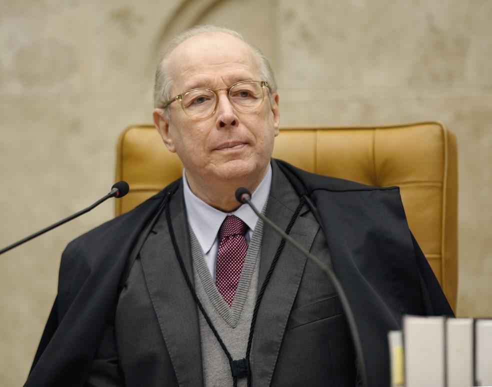 O ministro Celso de Mello durante sessão do Supremo Tribunal Federal (STF), em maio de 2019 — Foto:  Rosinei Coutinho/SCO/STF