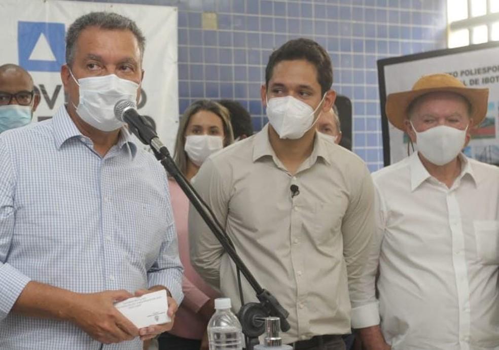 Rui Costa faz comentário após Bolsonaro voltar a defender desobrigação de máscara para vacinados. — Foto: Reprodução / Redes Sociais