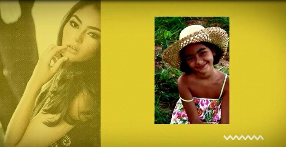 Des de pequena Júlia gosta de participar de concursos de beleza (Foto: Reprodução/Rede Amazônica Acre)