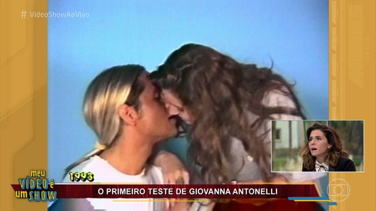 Giovanna Antonelli revê primeiro teste para TV e brinca com cena de beijo: 'Achei ousado demais'