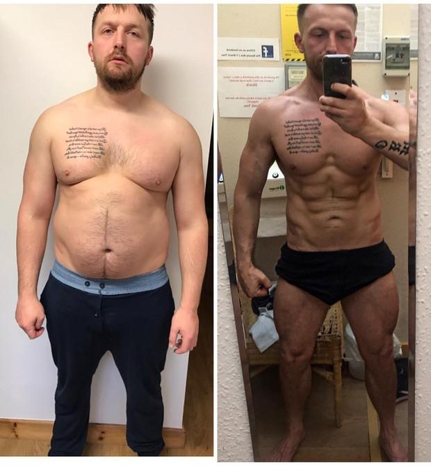 Antes e depois de Sion Monty: perdeu 25 kg em 6 meses (Foto: Reprodução/Instagram)