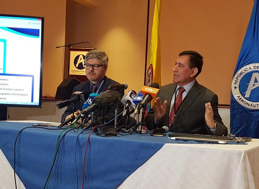 Apresentação do relatório final da tragédia da Chapecoense (Foto: Reprodução/Twitter/Aerocivil)