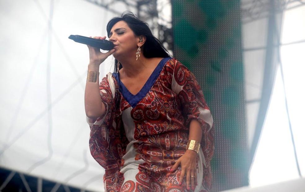Eyshila ao vivo em 2016 (Foto: Zô Guimarães/G1)