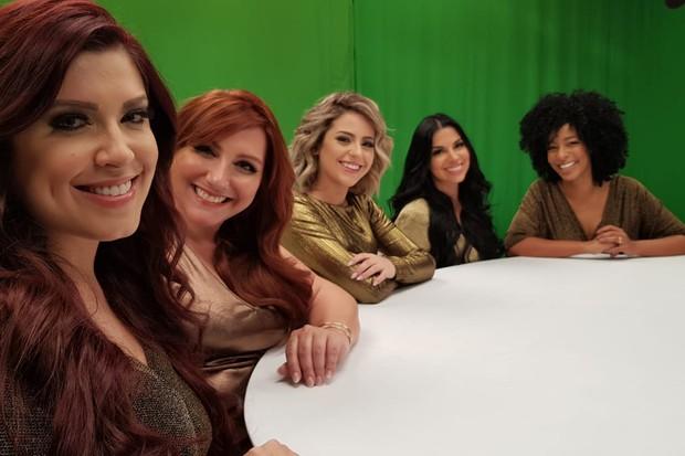 Evelyn Regly, Ju Romano, Alinne Prado, Amanda Pontes e Andressa Ganancin (Foto: Divulgação)