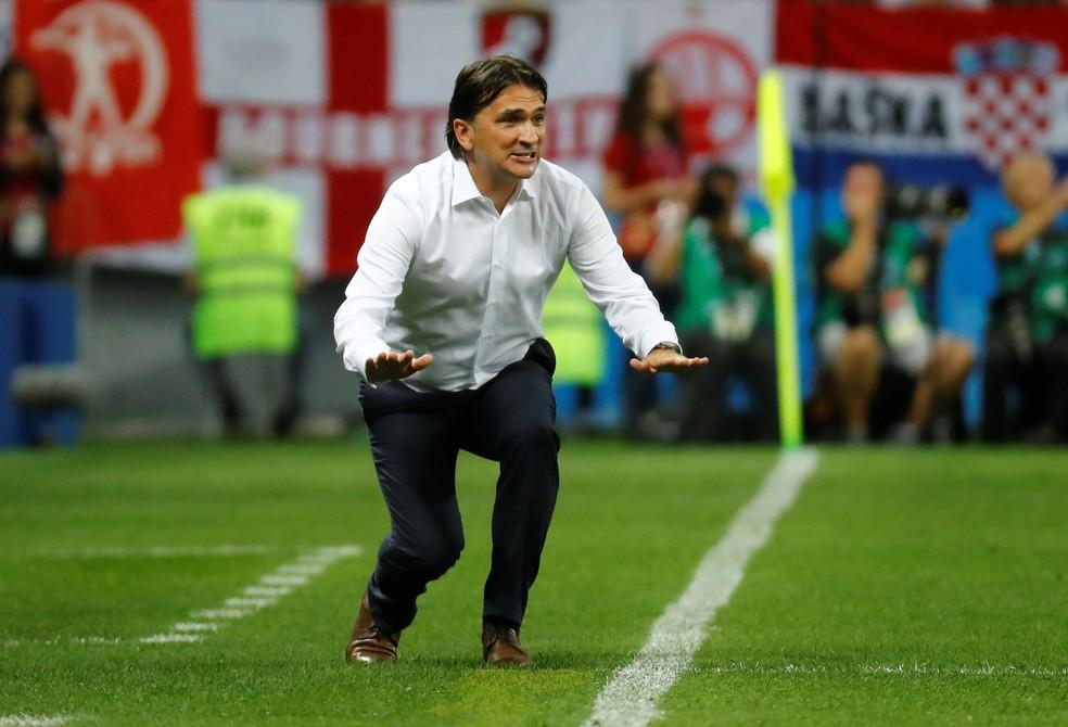 Técnico Zlatko Dalic em Croácia x Inglaterra (Foto: Kai Pfaffenbach/Reuters)
