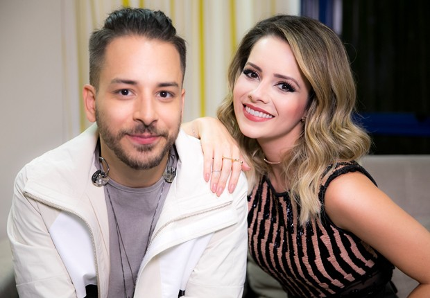Junior Lima e Sandy (Foto: Raquel Cunha/TV Globo)