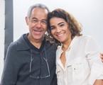 Fernando Sampaio e Luciana Lima prestigiam evento em homenagem a Domingos Montagner | Rede Globo / Raquel Cunha