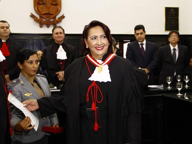 Maria das Graças Morais Guedes durante posse na corte do Tribunal de Justiça da Paraíba em 2012 (Foto: Keide Teixeira/Jornal da Paraíba/Arquivo)
