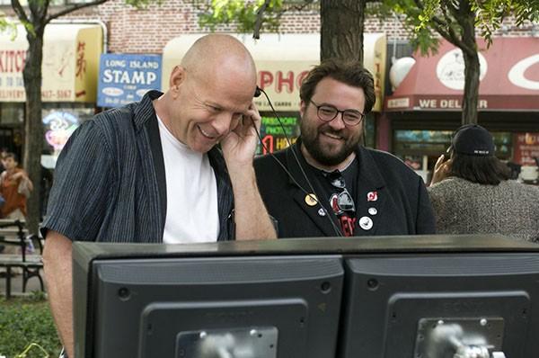 Kevin Smith e Bruce Willis (Foto: Reprodução)