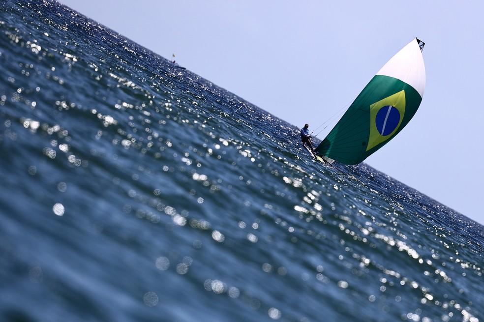 Martine Grael e Kahena Kunze são bicampeãs olímpicas — Foto: REUTERS/Carlos Barria