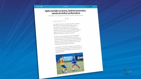 Arthur passará por exames médicos nesta quarta para fechar com o Barça, diz jornal