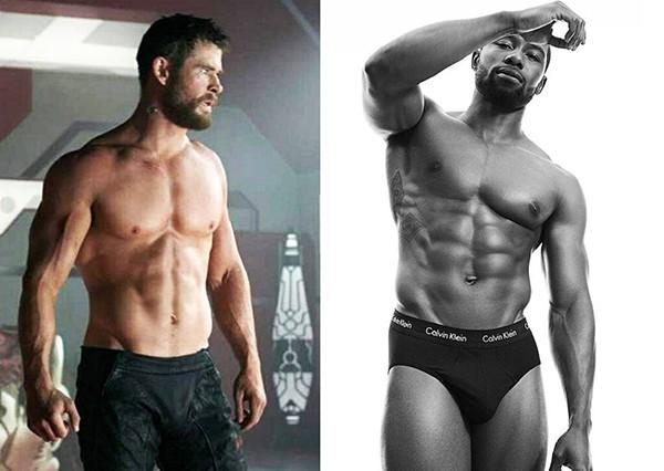Chris Hemsworth e Trevante Rhodes (Foto: Divulgação)