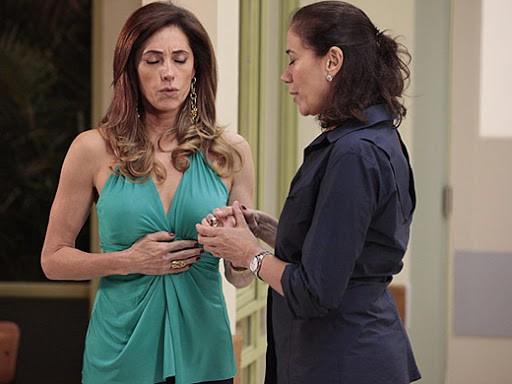 'Fina estampa', que reestreia nesta segunda-feira, 23, conta a história da rivalidade de duas mulheres completamente diferentes, Tereza Cristina (Christiane Torloni) e Griselda (Lilia Cabral) (Foto: TV Globo)