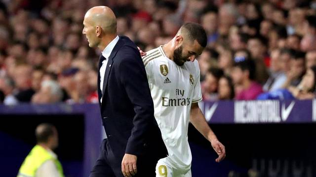 Zidane e Benzema, Atlético de Madrid x Real Madrid