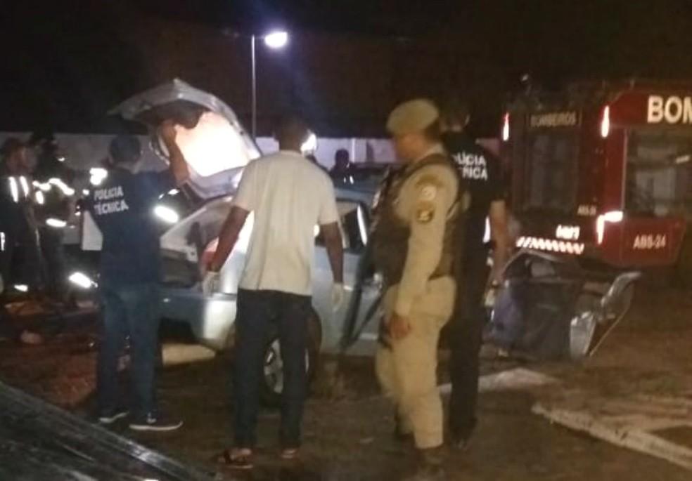 Acidente deixou três pessoas mortas — Foto: Reprodução/Blog Braga