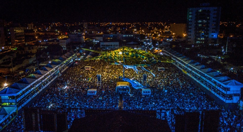 Terreiro do Forró, onde aconteceu os shows do São João de Patos, na PB — Foto: Alex Costa/Prefeitura de Patos