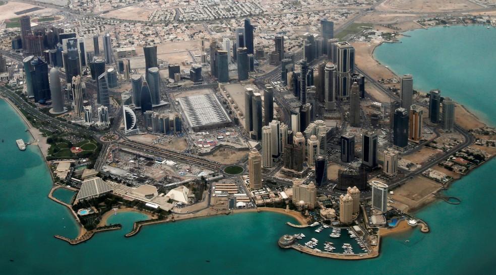 Vista aérea de Doha, capital do Catar (Foto: REUTERS/Fadi Al-Assaad/File Photo)